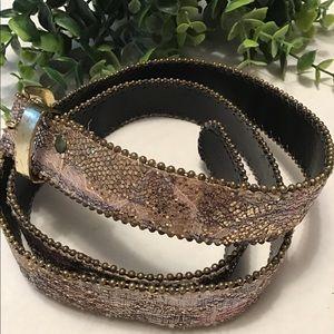 Vintage 90's Glittery Faux Snakeskin Belt